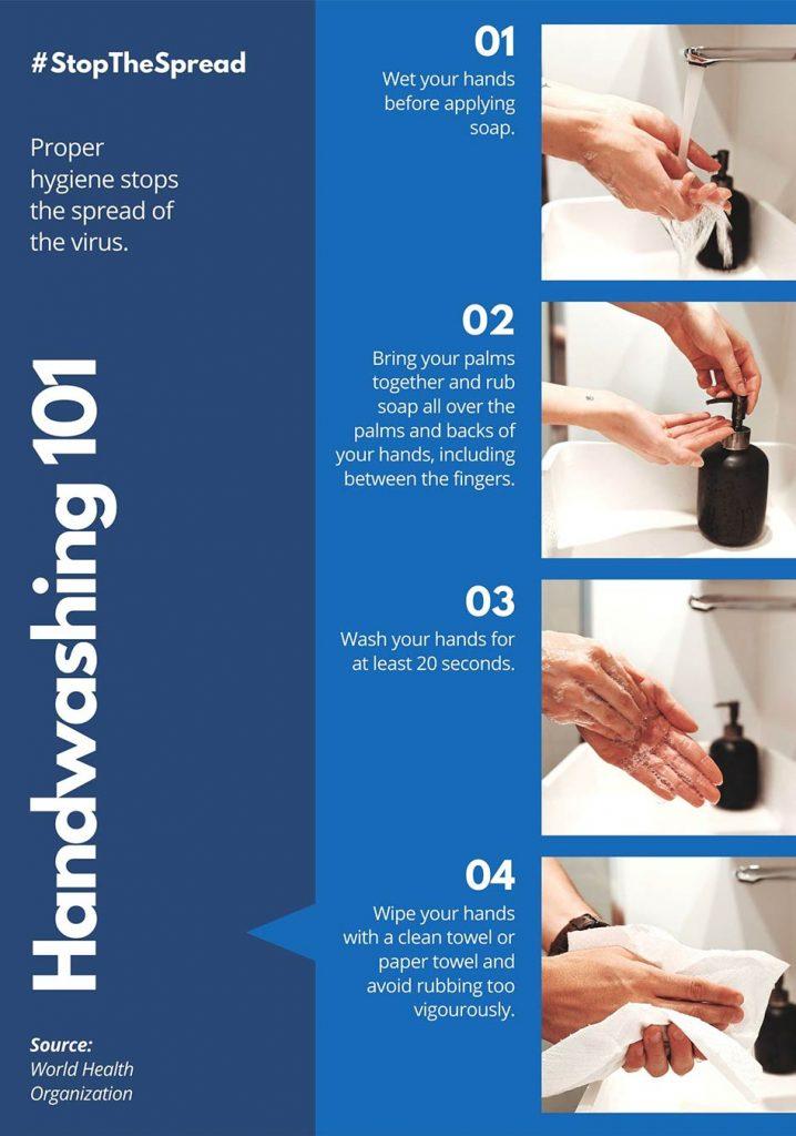 event, how to handwash
