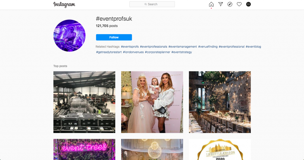 eventprofs, hashtag, event hashtag, event industry