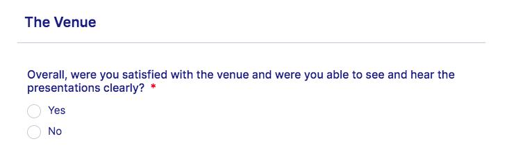 Event feedback, event feedback form, feedback form, event staff, survey